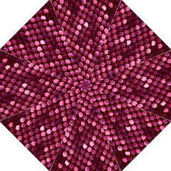 Red Circular Pattern Background Hook Handle Umbrellas (large) by Simbadda