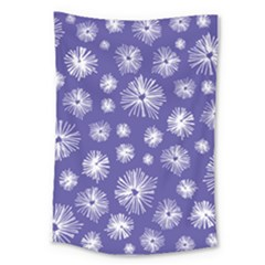 Aztec Lilac Love Lies Flower Blue Large Tapestry by Alisyart