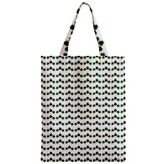 Shamrock Zipper Classic Tote Bag by boho