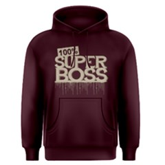 100% Super Boss   Men s Pullover Hoodie by FunnySaying