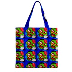 Zombies Zipper Grocery Tote Bag by boho