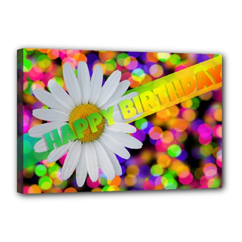 Happy Birthday Canvas 18  X 12  by boho