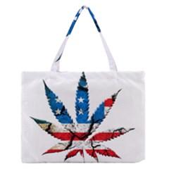 Marijuana Medium Zipper Tote Bag by boho
