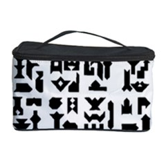Anchor Puzzle Booklet Pages All Black Cosmetic Storage Case by Simbadda