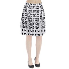 Anchor Puzzle Booklet Pages All Black Pleated Skirt by Simbadda