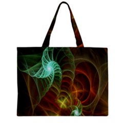 Art Shell Spirals Texture Mini Tote Bag by Simbadda