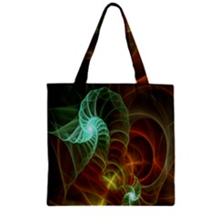 Art Shell Spirals Texture Zipper Grocery Tote Bag by Simbadda