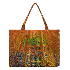 Circuit Board Pattern Medium Tote Bag by Simbadda