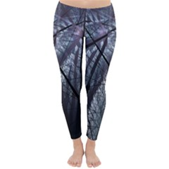 Fractal Art Picture Definition  Fractured Fractal Texture Classic Winter Leggings by Simbadda