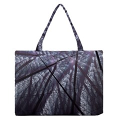 Fractal Art Picture Definition  Fractured Fractal Texture Medium Zipper Tote Bag by Simbadda
