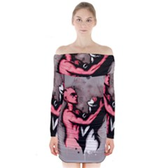 Come Play Long Sleeve Off Shoulder Dress by lvbart