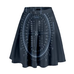 Minimalistic Knowledge Mathematics Trigonometry High Waist Skirt by Onesevenart