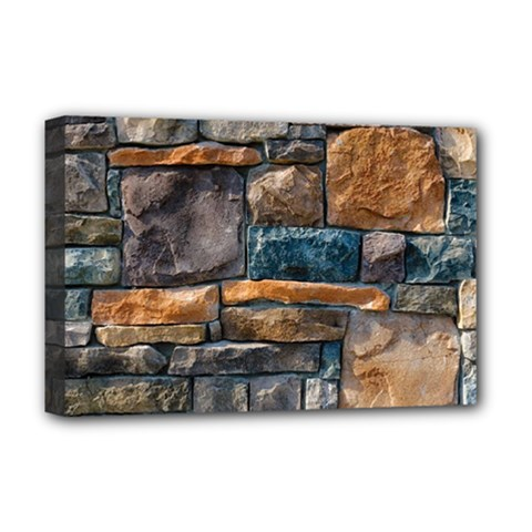 Brick Wall Pattern Deluxe Canvas 18  x 12   by Onesevenart