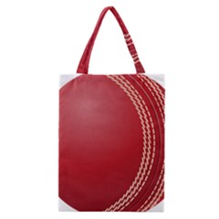 Cricket Ball Classic Tote Bag by Onesevenart