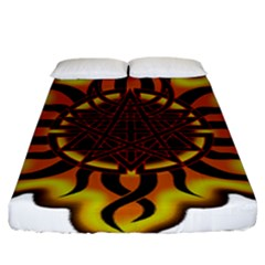 Disturbed Is An American Heavy Metal Band Logo Fitted Sheet (king Size) by Onesevenart