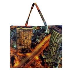Hdri City Zipper Large Tote Bag by Onesevenart