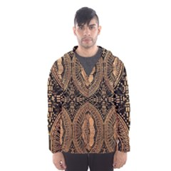 The Art Of Batik Printing Hooded Wind Breaker (men) by Onesevenart