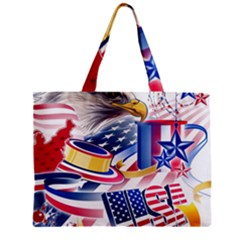 United States Of America Usa  Images Independence Day Zipper Mini Tote Bag by Onesevenart