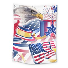 United States Of America Usa  Images Independence Day Medium Tapestry by Onesevenart