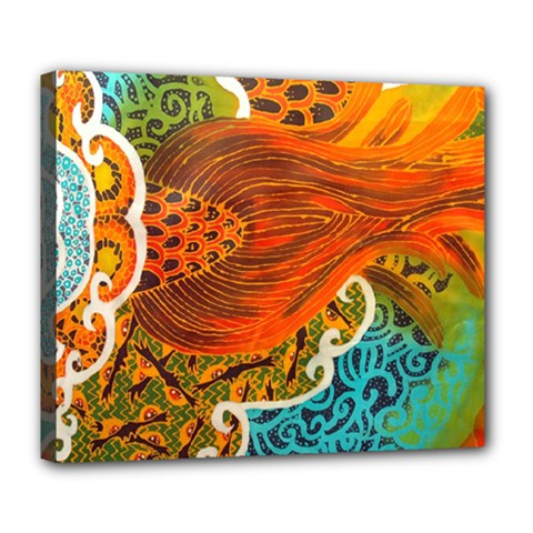 The Beautiful Of Art Indonesian Batik Pattern Deluxe Canvas 24  X 20   by Onesevenart