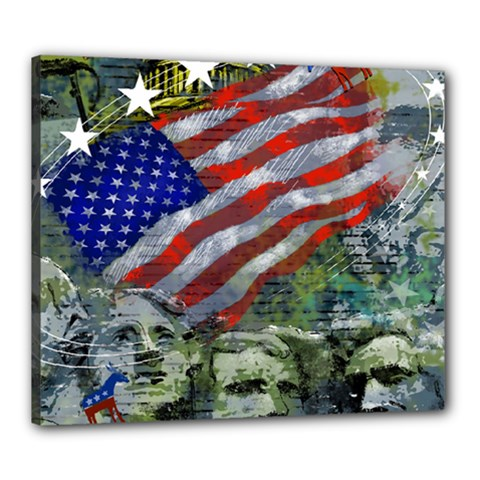 Usa United States Of America Images Independence Day Canvas 24  X 20