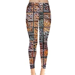 Wooden Blocks Detail Leggings  by Onesevenart