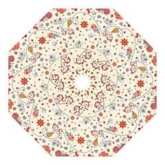 Spring Floral Pattern With Butterflies Golf Umbrellas by TastefulDesigns