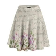 Cherry Blossom High Waist Skirt by Valentinaart