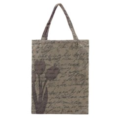 Vintage tulips Classic Tote Bag by Valentinaart