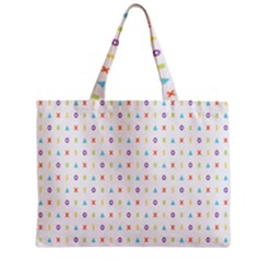 Sign Pattern Zipper Mini Tote Bag by Simbadda