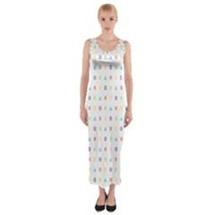 Sign Pattern Fitted Maxi Dress by Simbadda