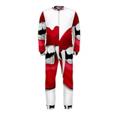 Mouth Jaw Teeth Vampire Blood Onepiece Jumpsuit (kids) by Simbadda
