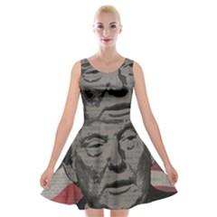 Trump Velvet Skater Dress by Valentinaart