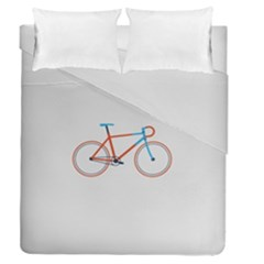 Bicycle Sports Drawing Minimalism Duvet Cover Double Side (queen Size) by Simbadda