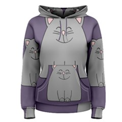Cat Minimalism Art Vector Women s Pullover Hoodie by Simbadda