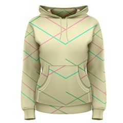 Abstract Yellow Geometric Line Pattern Women s Pullover Hoodie by Simbadda