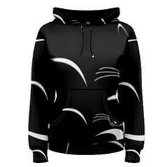 Cat Black Vector Minimalism Women s Pullover Hoodie by Simbadda