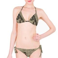 Dinosaur Skeleton Bikini Set by Valentinaart