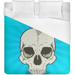 Skull Ball Line Schedule Duvet Cover (king Size) by Simbadda