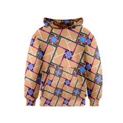 Overlaid Patterns Kids  Pullover Hoodie by Simbadda