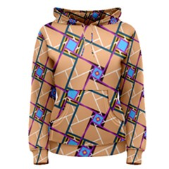 Overlaid Patterns Women s Pullover Hoodie by Simbadda