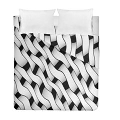 Black And White Pattern Duvet Cover Double Side (Full/ Double Size) by Simbadda