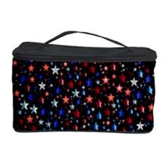 America Usa Map Stars Vector  Cosmetic Storage Case by Simbadda