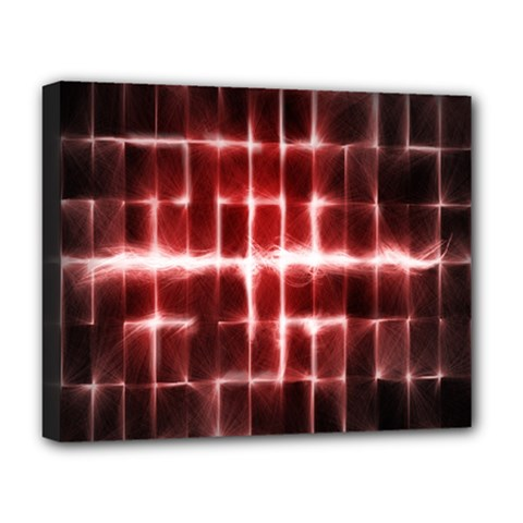 Electric Lines Pattern Deluxe Canvas 20  X 16   by Simbadda