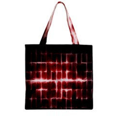 Electric Lines Pattern Zipper Grocery Tote Bag by Simbadda
