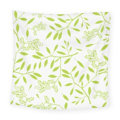 Leaves Pattern Seamless Square Tapestry (large) by Simbadda