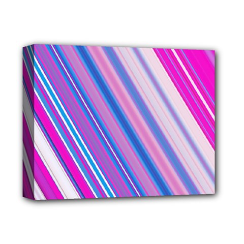Line Obliquely Pink Deluxe Canvas 14  X 11  by Simbadda