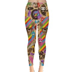 Background Images Colorful Bright Leggings  by Simbadda