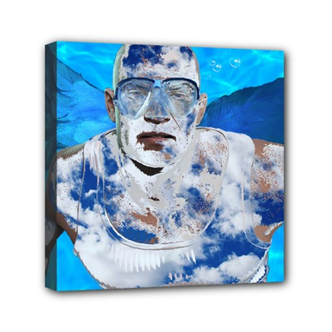 Swimming Angel Mini Canvas 6  X 6  by Valentinaart