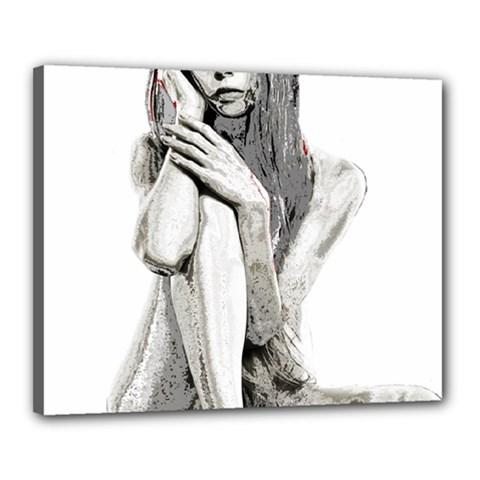 Stone girl Canvas 20  x 16  by Valentinaart